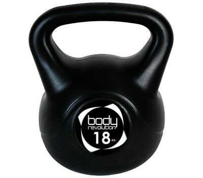 18Kg Vinyl Kettlebell Dumbbell Weights Strength Training Home Gym Fitness Weight