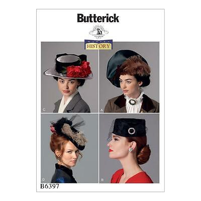 BUTTERICK SEWING PATTERN MAKING HISTORY 20s 40s HATS OSZ B6397
