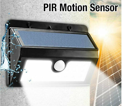 Super-Bright White Smd Solar Powered Led Motion Sensor Security Wall Door Light