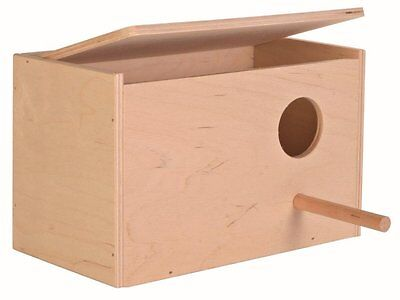 Trixie Wooden Cockatiel Nest Nesting Box With Perch Cage Aviary Opening Top 5631
