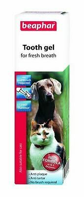 Beaphar Tooth Gel for Cats & Dogs Toothpaste with No Brushing Required 3235