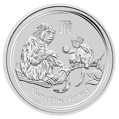 2016 P Australia Silver Lunar Year of the Monkey (1 oz) $1 - BU