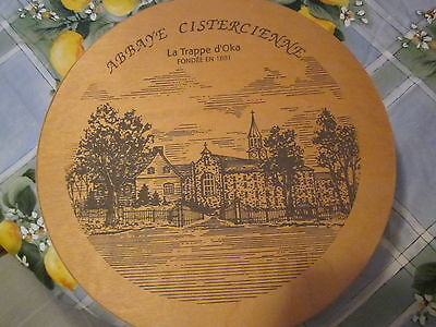 Abbaye Cistercienne- Oka-Founded In 1881, Qc, Canada-Large Round Wood Box