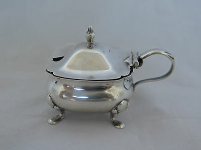 Antique English Sterling Small Mustard Pot with Liner