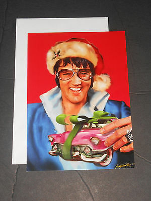 New 5 Elvis Presley Christmas 5X7 Postcards And Envelopes