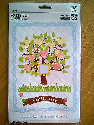 Docrafts Xcut A5 Die Set 15PK - Family Tree - Free 1st P&P