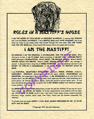 Rules In A Mastiff's House