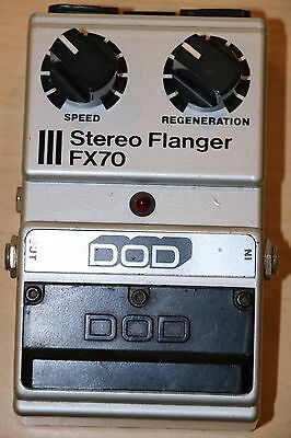 DOD Stereo Flanger FX70 Guitar Effects Pedal Pre-owned Free Shipping