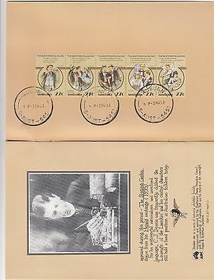 Stamps 27c Australia 1986 C J Dennis 2 strips of 5 STAMPEX Post Salutes booklet