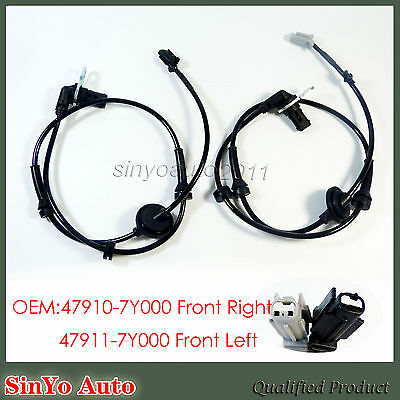 New ABS Wheel Speed Sensor Front Left & Right For Nissan Maxima 2004-08 V6 3.5L