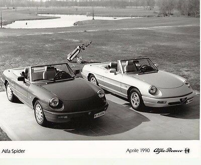 Alfa Romeo S4 Spider x 2 on the Golf Course Photograph Mint Condition 1990