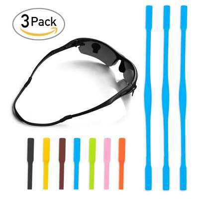 3/7pcs 8 Colour Silicone Glasses Sports Strap Chain Cord Holder Neck Lanyard 6""