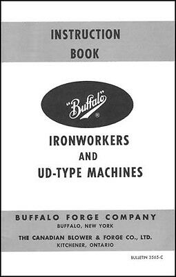 Buffalo Ironworker and UD-Type Machines Manual