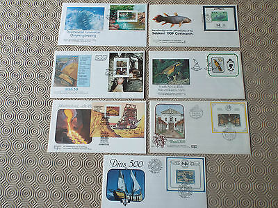 South Africa M/S On FDC x7 1986 - 1992