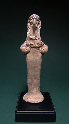 Ancient Figure Of A Diety Terracotta Hittite 2000-1000 Bc