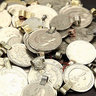 50 real COINS Tribal Belly Dance Kuchi ROUND ((polished))