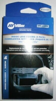 MILLER Genuine 216327 INSIDE COVER LENS for ELITE SERIES - QTY5