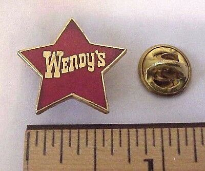 Wendy's Fast Food Restaurant Red Star Enamel Employee Pin