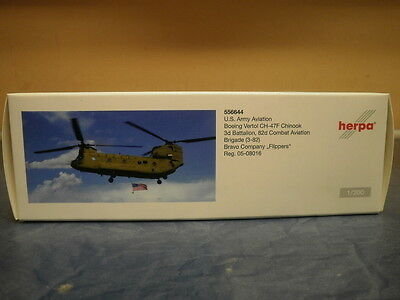 Herpa Wings 1:200 Boeing CH-47 Chinook US Army 3d Battalion