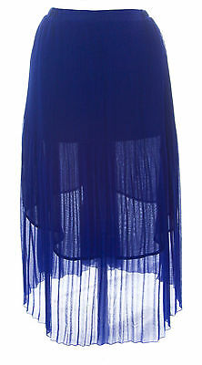 TOPSHOP MATERNITY Women's Cobalt Blue Pleated Midi Skirt 44S02Y Size 8 NEW
