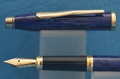 Cross Century II Midnight Blue Fine Fountain Pen with Gold Plated Trim