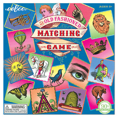 eeBoo Old Fashioned Matching Game MGOLD Free US Shipping