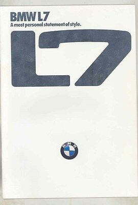1986 BMW L7 Prestige Brochure ww2608