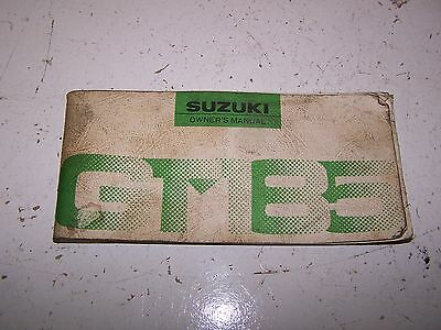 Suzuki GT GT185 Owners Manual 1976