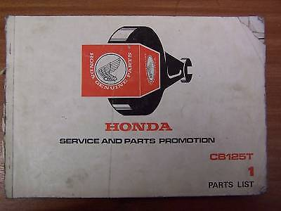 Honda CB125T Service and Parts Promotion List 1