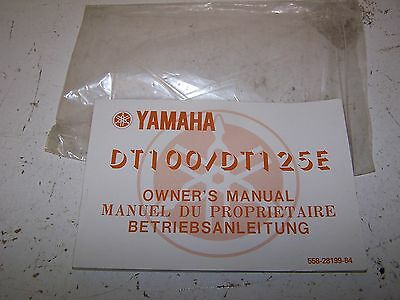 Yamaha DT DT100 DT125 E Owners Manual 1978