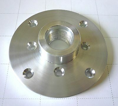 "3"" Face Plate, Aluminum, 3/4-16 Threaded for Easy Wood Lathe Bowl Turning New"