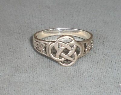 STERLING 925 PSCL Peter Stone CELTIC Design Ring Sz 8