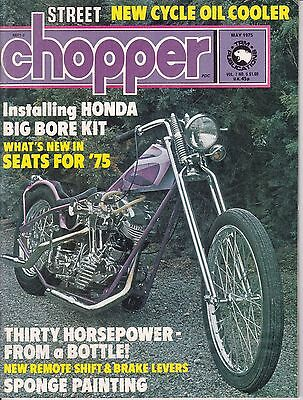 Street Chopper Motorcycle Magazine MAY 1975