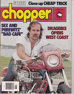 Street Chopper Motorcycle Magazine AUGUST 1980 AUG