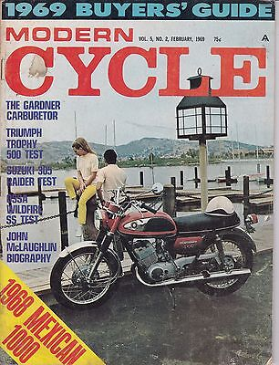 Modern Cycle Motorcycle Magazine FEBRUARY 1969 FEB