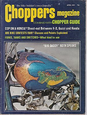 Choppers Magazine Combined W/ Chopper Guide Motorcycle Mag. APRIL 1971 APR
