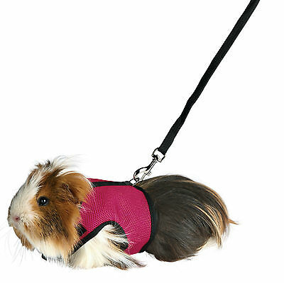 Trixie Guinea Pig Soft Mesh Harness and Lead Set Choice of Colours 61512