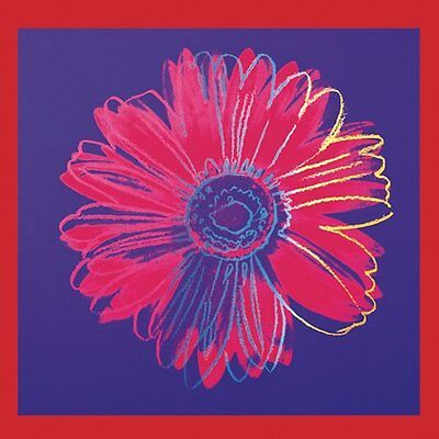Daisy, c.1982 (blue & red) by Andy Warhol Art Print Poster Flower 19.75x19.75