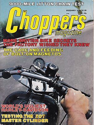 Choppers Magazine Motorcycle Magazine DECEMBER 1974 DEC