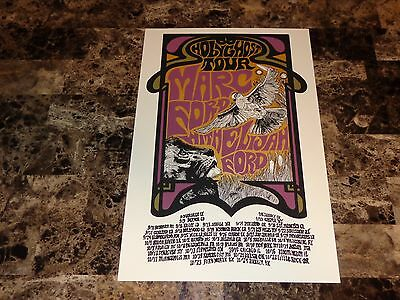 Marc Ford Authentic 2014 Concert Poster Lithograph Black Crowes Burning Tree WOW