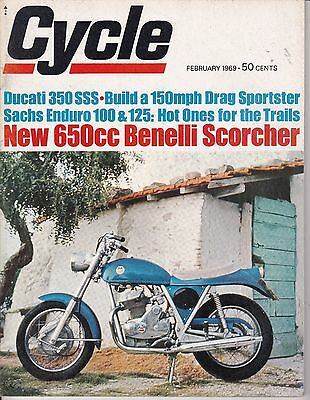 Cycle Motorcycle Magazine FEBRUARY 1969 FEB