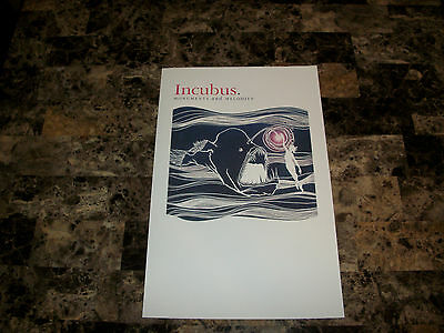 Incubus Rare Promo Lithograph Print Monuments and Melodies 2009 Brandon Boyd WOW