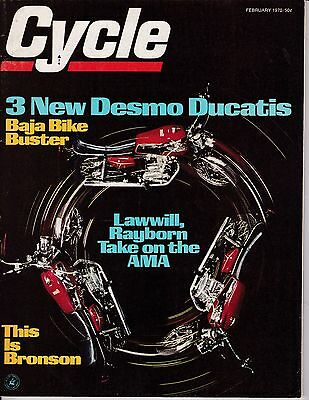 Cycle Motorcycle Magazine FEBRUARY 1970 FEB