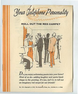 Old 1973 Pamphlet Your Telephone Personality Phone Etiquette