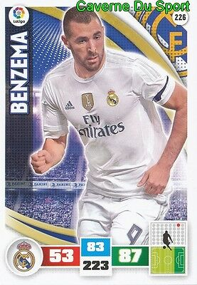226 Karim Benzema France Real Madrid Ol Card Adrenalyn Liga 2016 Panini