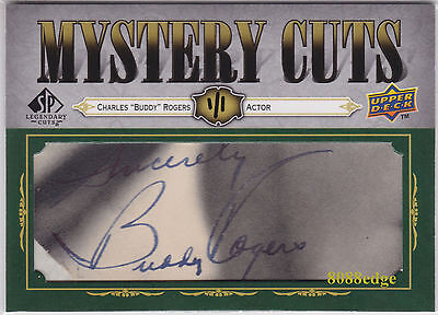 """2008 Mystery Cuts Auto: Charles """"buddy"""" Rogers #1/1 Autograph - """"wings"""" Oscar"""