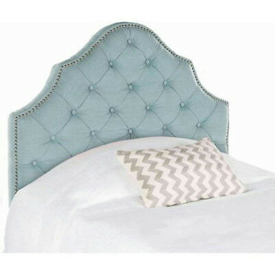 Safavieh #MCR4034A Arebelle TWIN size Headboard with Nail Heads