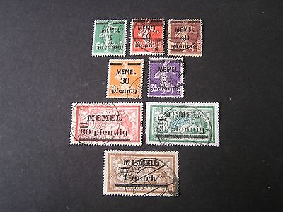 *Germany, Memel, Scott # 18/19(2)+21-26,.Stamps Of France 1920 Ovpt Issue.used