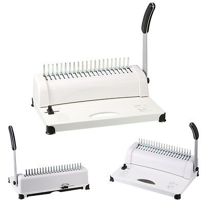 Comb Binder Manual Binding Machine Punch Paper 450 Sheet Paper Capacity Office