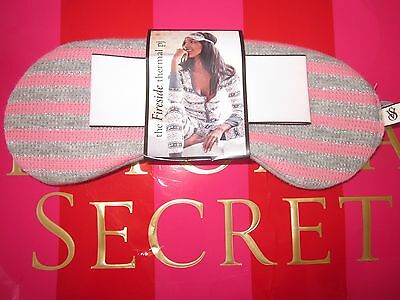 Nwt Victoria's Secret Signature Stripe Flannel Dreamer Fireside Eye Mask Pink